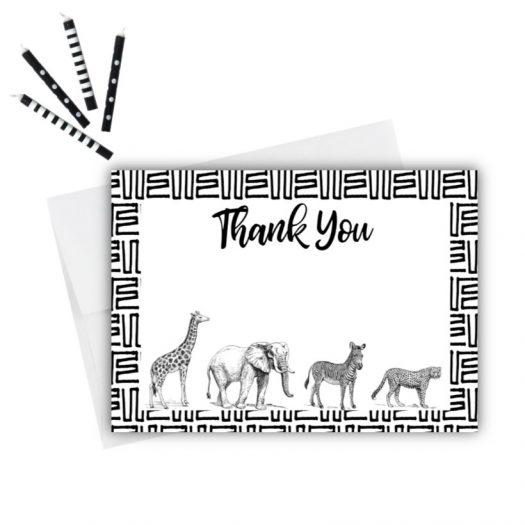 Zoo Thank You Card