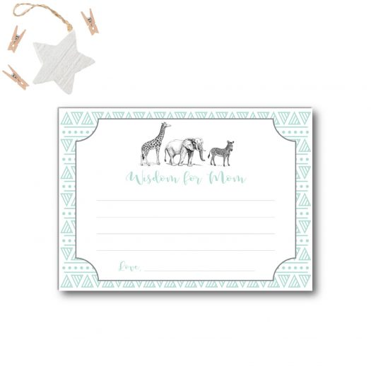 Zoo Wisdom Baby Card